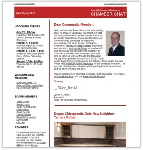 Rose Hill Chamber Chat Issue #5