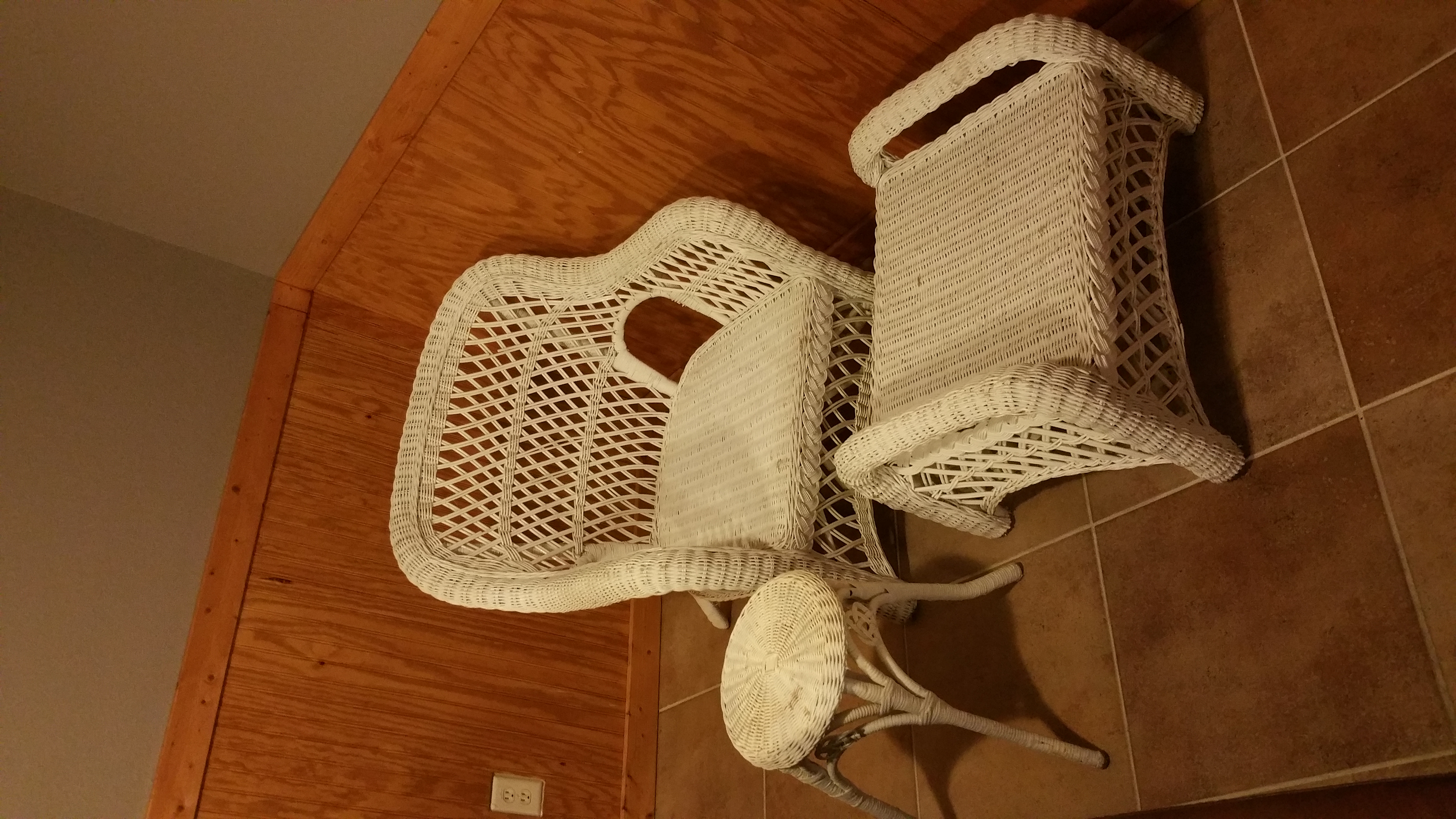 Super 3 Piece Wicker Chair Table And Foot Stool Rose Hill Cjindustries Chair Design For Home Cjindustriesco