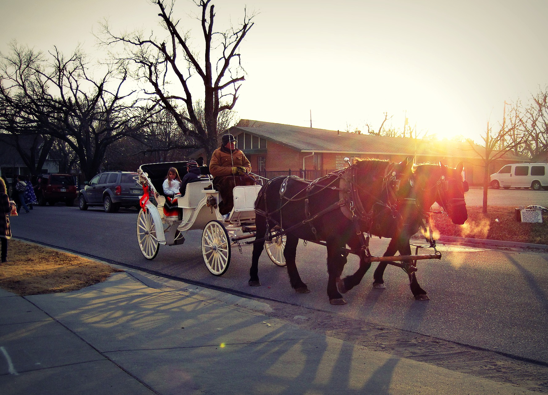 city of rose hill christmas carriage rides rh ks kansas
