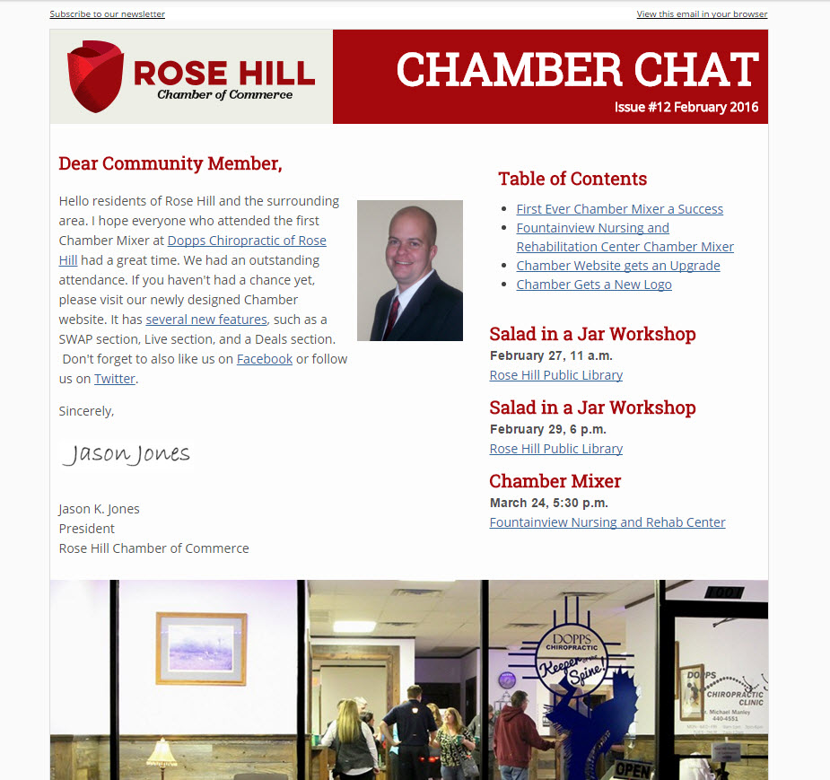 Rose Hill Chamber Chat Issue 12