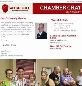 Rose Hill Chamber of Commerce Chamber Chat Issue 18