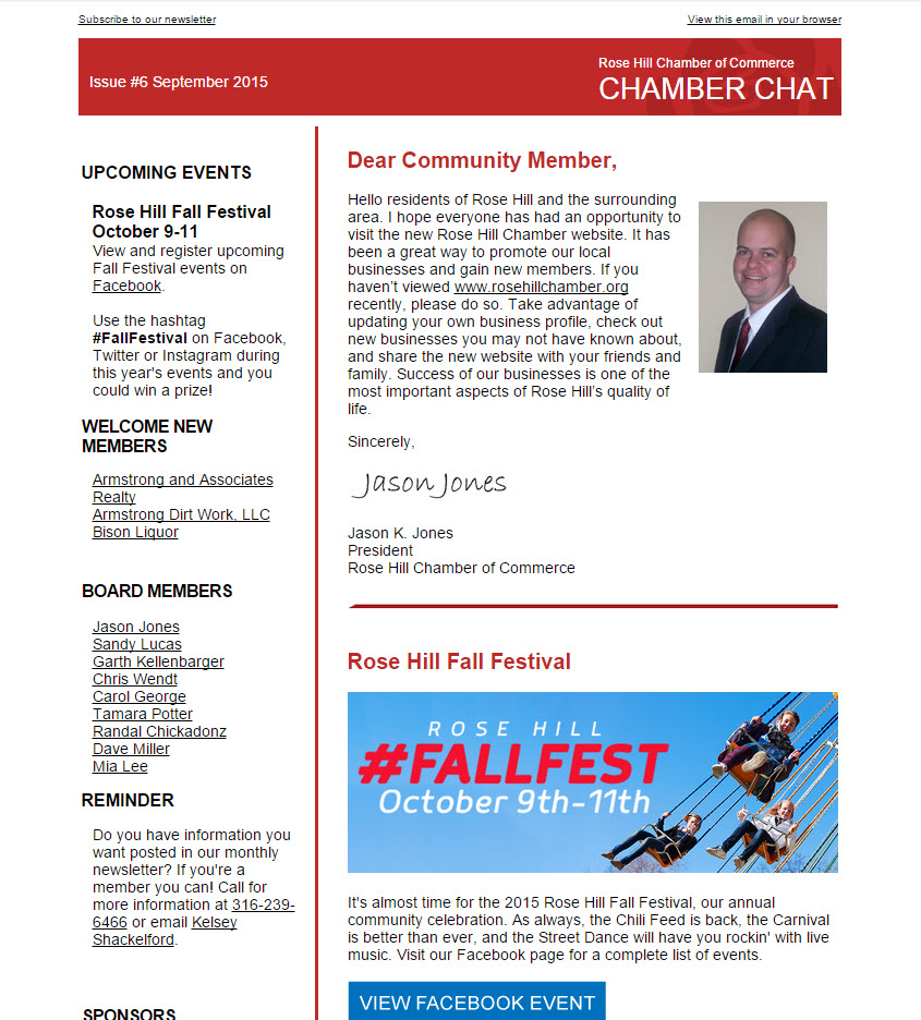 Chamber Chat Newsletter Issue #6
