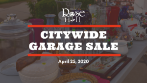 Rose Hill Citywide Garage Sale - CANCELLED