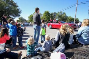 The Rose Hill community gathered along the street to view the Fall Festival parade.