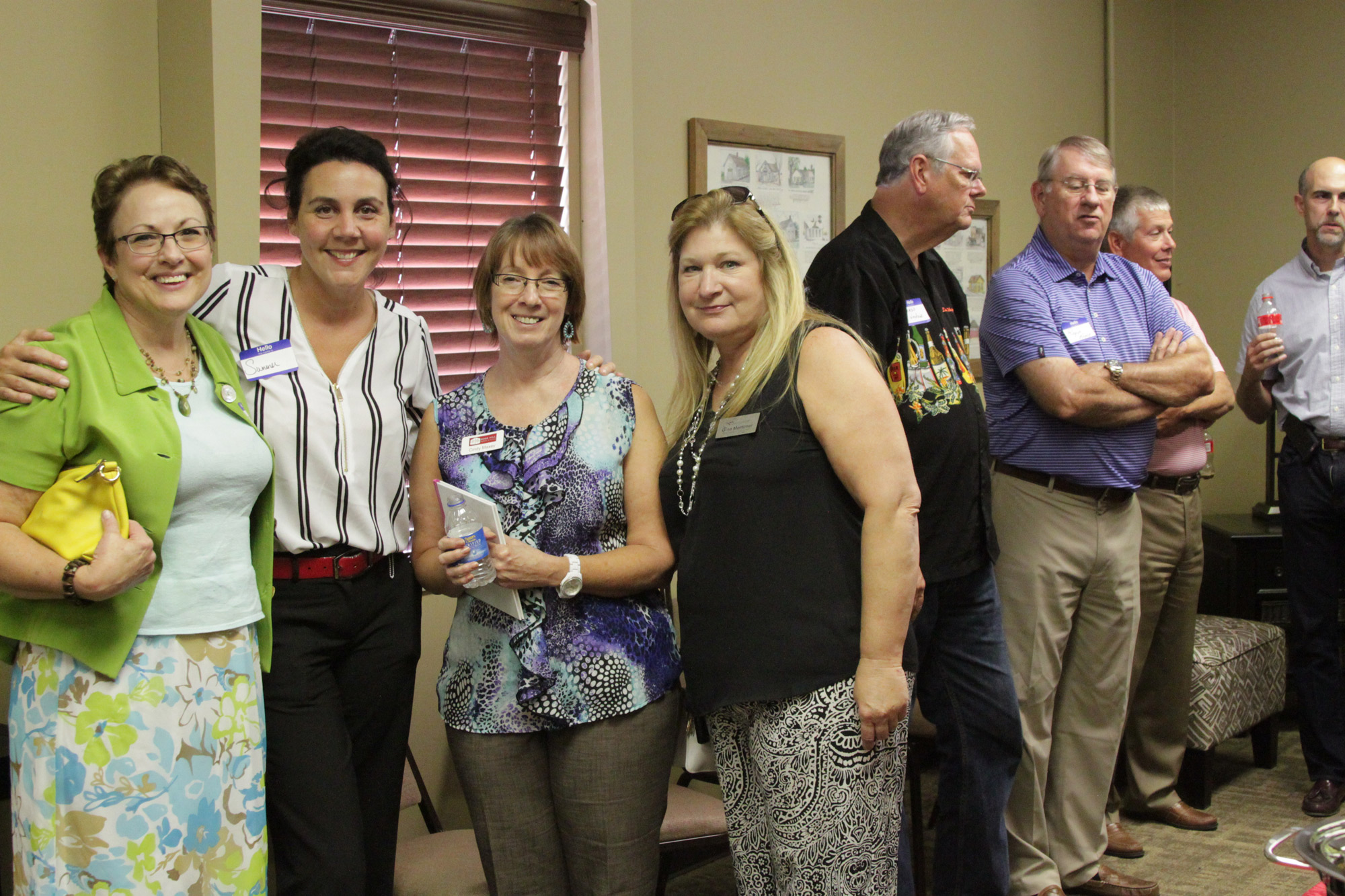 Fellow Rose Hill Chamber members and guests enjoyed the chamber mixer hosted at the Rose Hill Public Library.