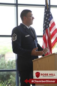 Speaker MSgt Longnecker shares advice on making a small business feel like family.