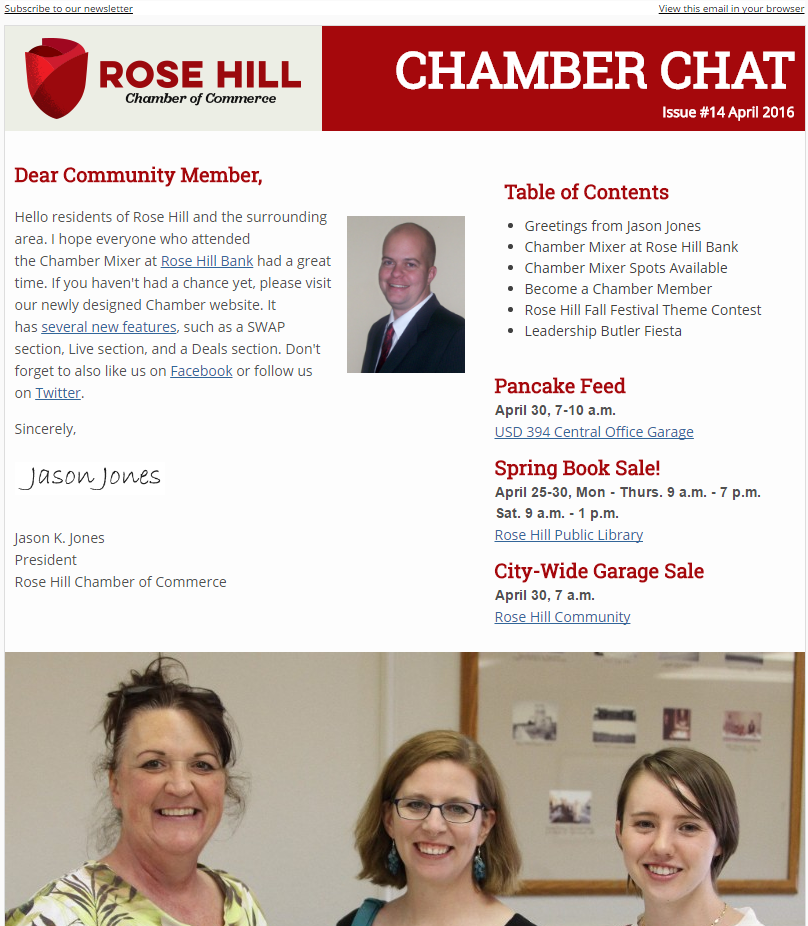 Chamber Chat Newsletter #14 - April, 2016