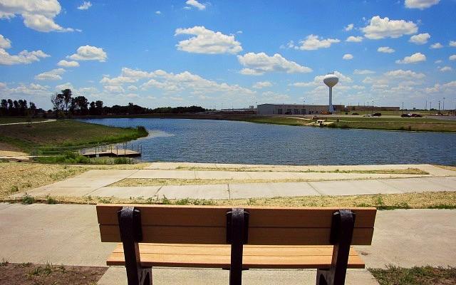 city of rose hill ks kansas park school street pond