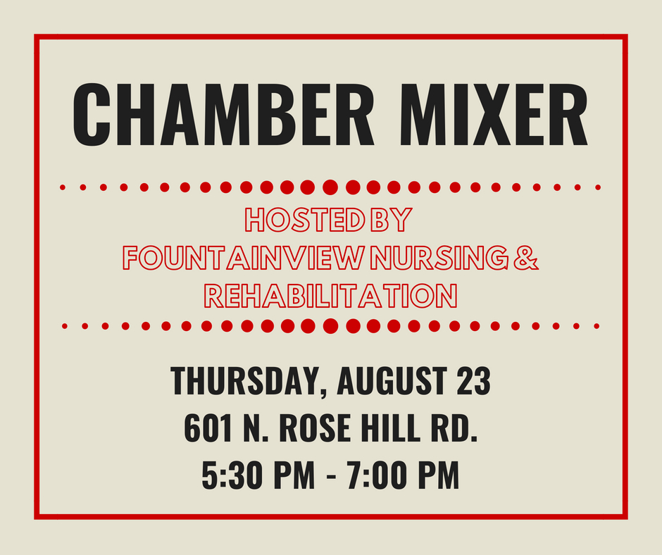Fountainview Chamber Mixer @ Fountainview | Rose Hill | Kansas | United States
