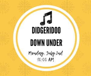 Didgeridoo Down Under @ Rose Hill Public Library | Rose Hill | Kansas