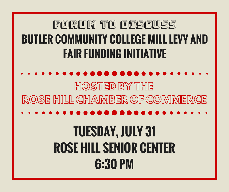 Forum to Discuss Butler College Mill Levy & Fair Funding Initiative @ Rose Hill Senior Center | Rose Hill | Kansas | United States