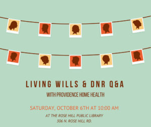 Living Will and DNR Q&R @ Rose Hill Public Library | Rose Hill | Kansas