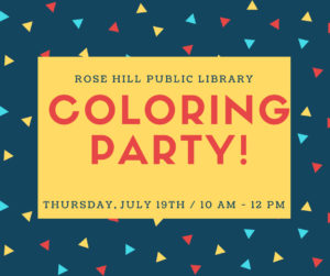 Coloring Party @ Rose Hill Public Library | Rose Hill | Kansas