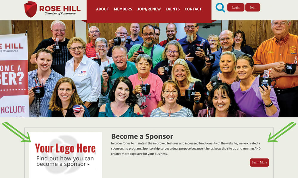 Rose Hill Chamber Sponsorship Option 1