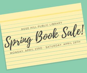 Spring Book Sale @ Rose Hill Public Library | Rose Hill | Kansas