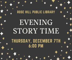Evening Story Time @ Rose Hill Public Library | Rose Hill | Kansas