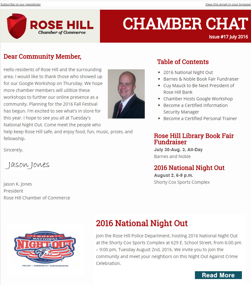Chamber Chat Issue 17 - July 2016
