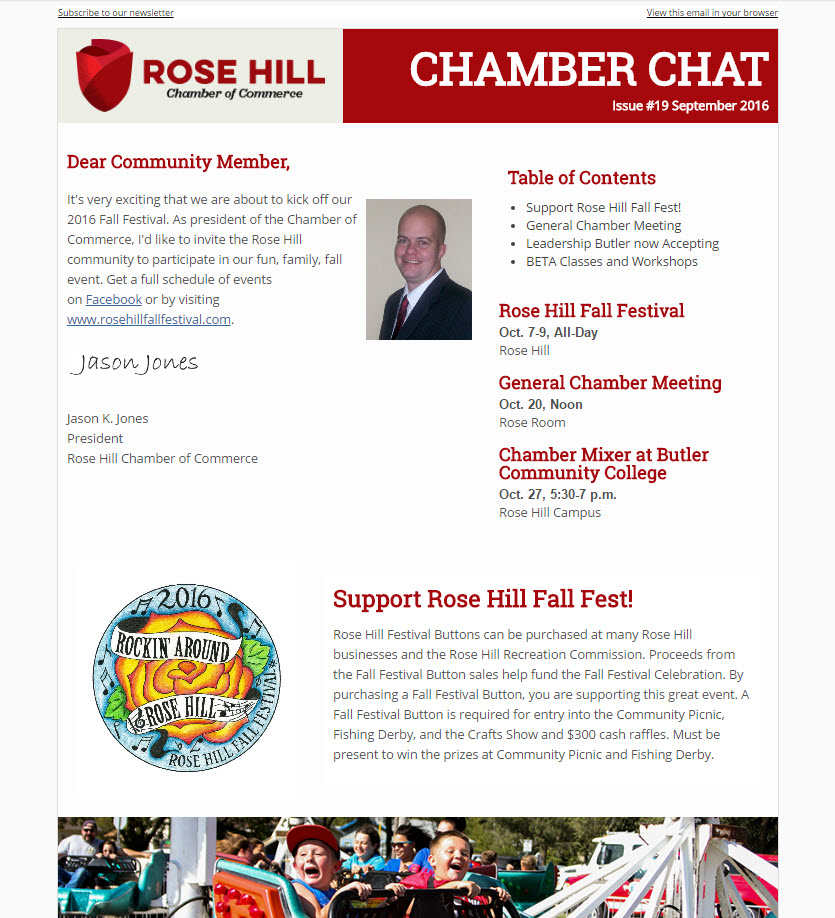Rose Hill Chamber Chat Issue #19