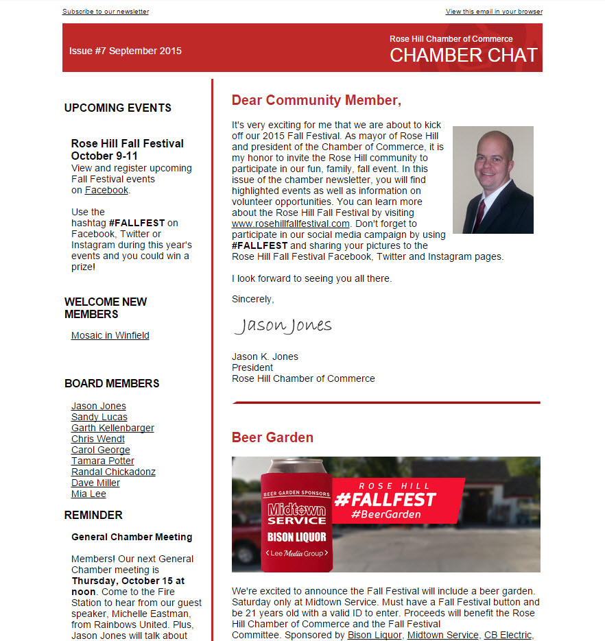 Chamber Chat Newsletter Issue #7