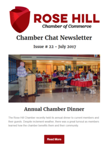 Rose Hill Chamber Chat Newsletter - July 2017